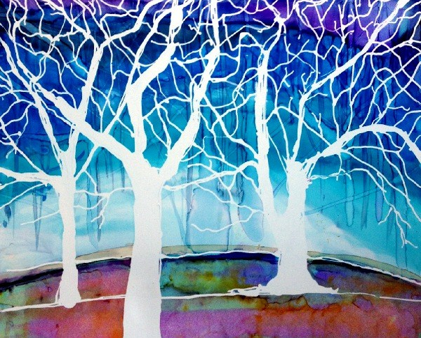 """Winter Landscape"" original fine art by Kristen Dukat"