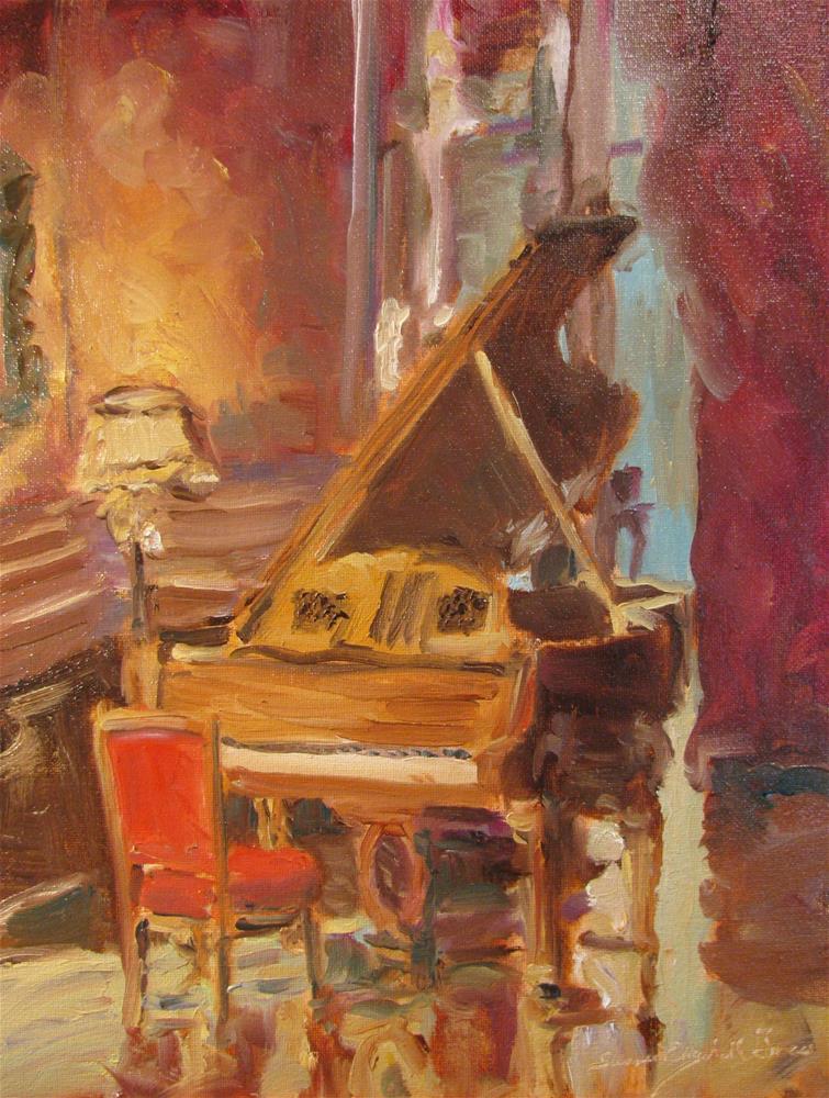 """The Velvet Cushion"" original fine art by Susan Elizabeth Jones"