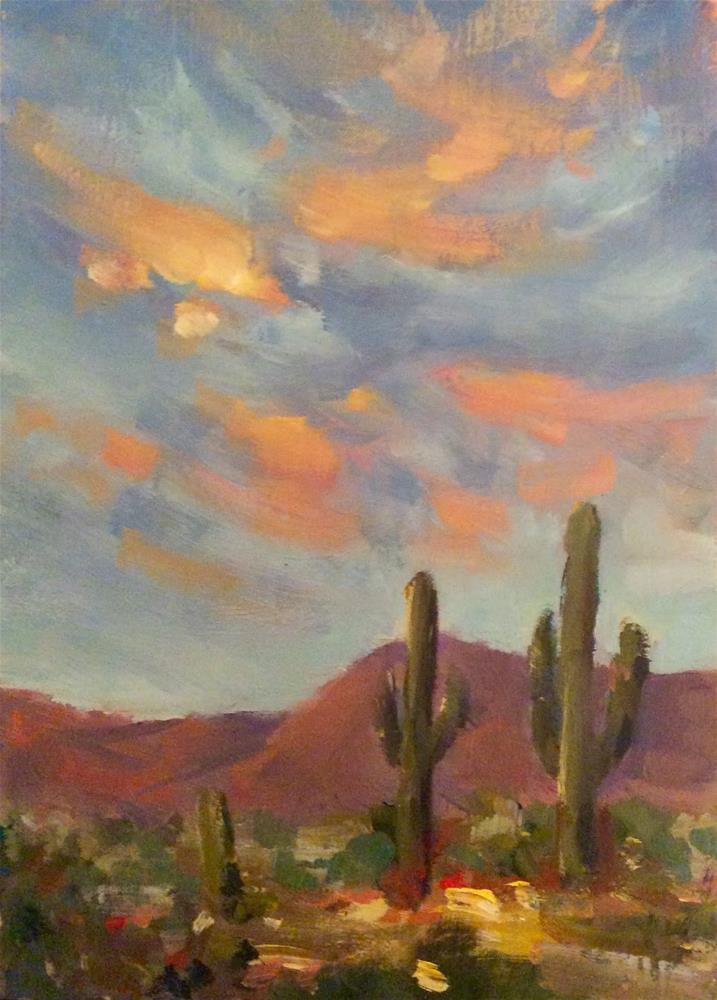 """CACTUS SKY"" original fine art by Doug Carter"