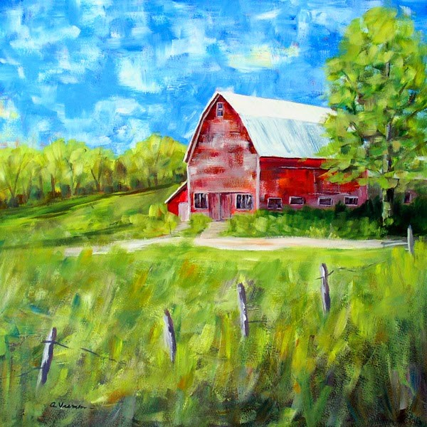 """Barn #27"" original fine art by Anna Vreman"