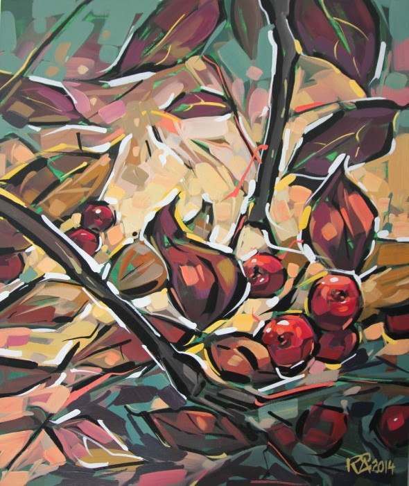 """Rowan Berries 21"" original fine art by Roger Akesson"