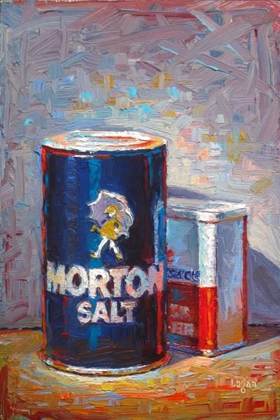 """Salt Overshadows Pepper"" original fine art by Raymond Logan"