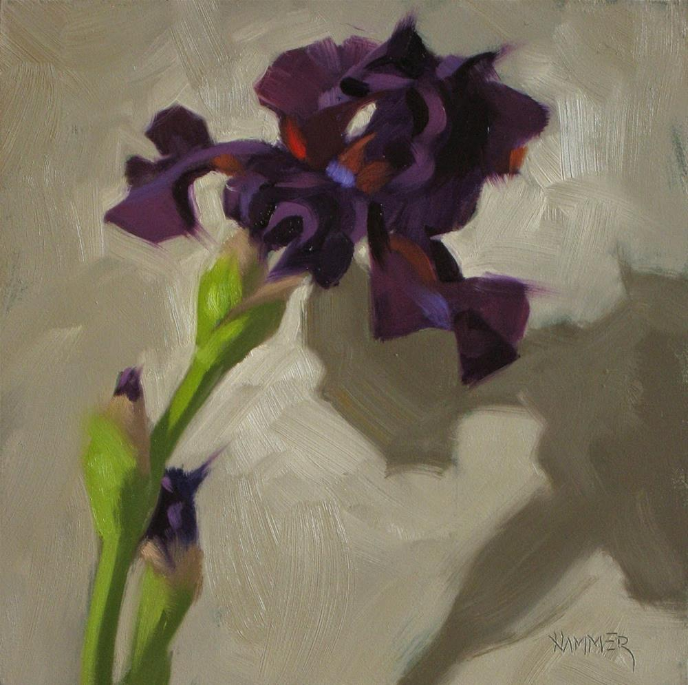 """The curly purple one  6x 6  oil"" original fine art by Claudia Hammer"