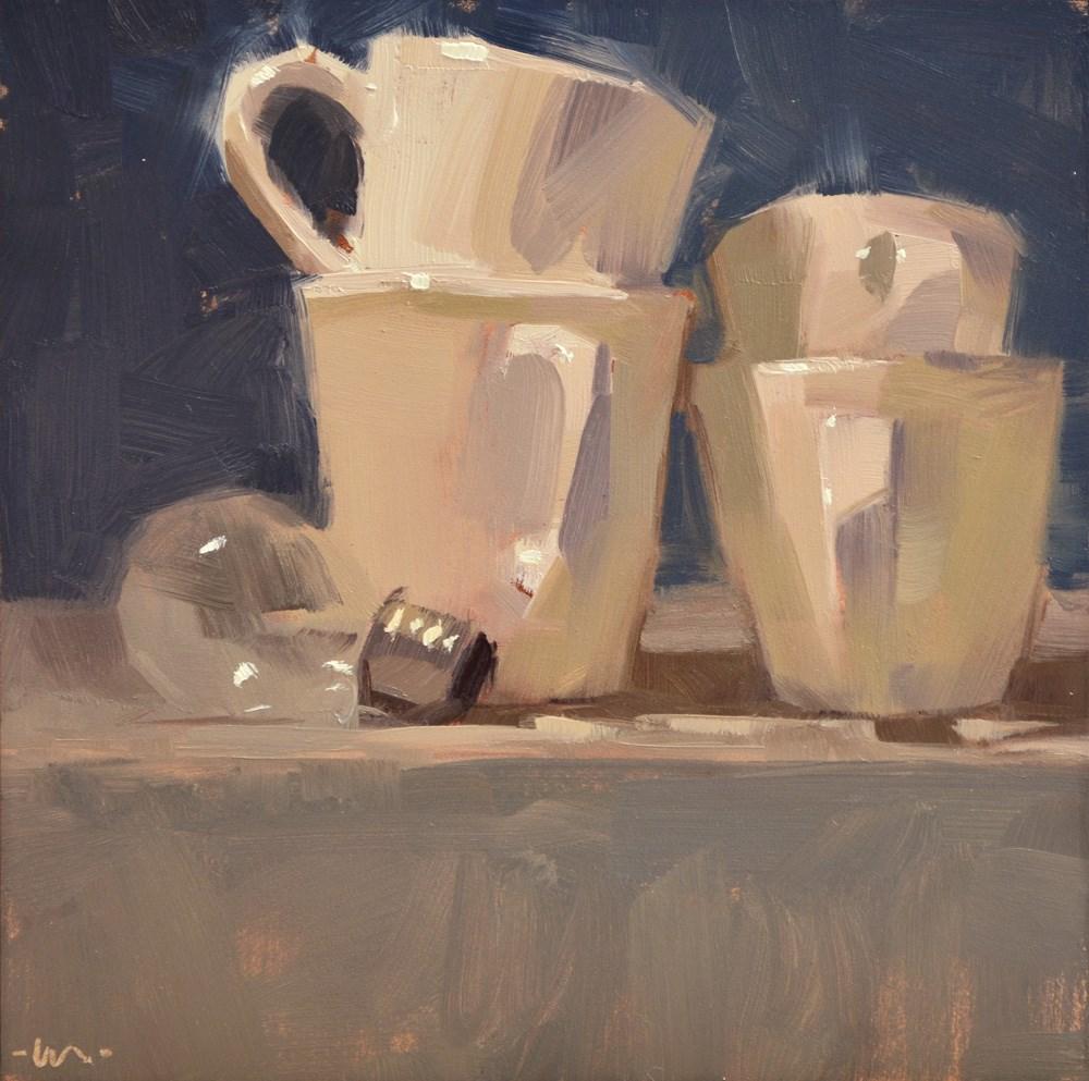"""Light for Cups"" original fine art by Carol Marine"