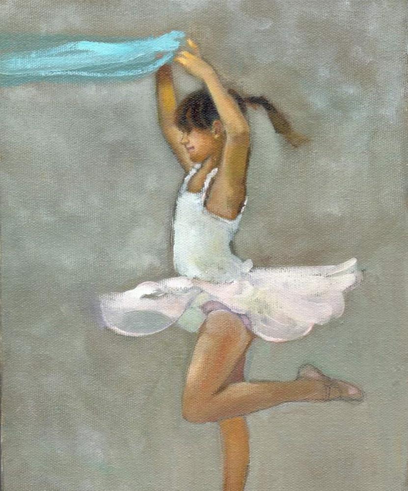 """""""Little Dancer"""" original fine art by Christine Angelotta Dixon"""