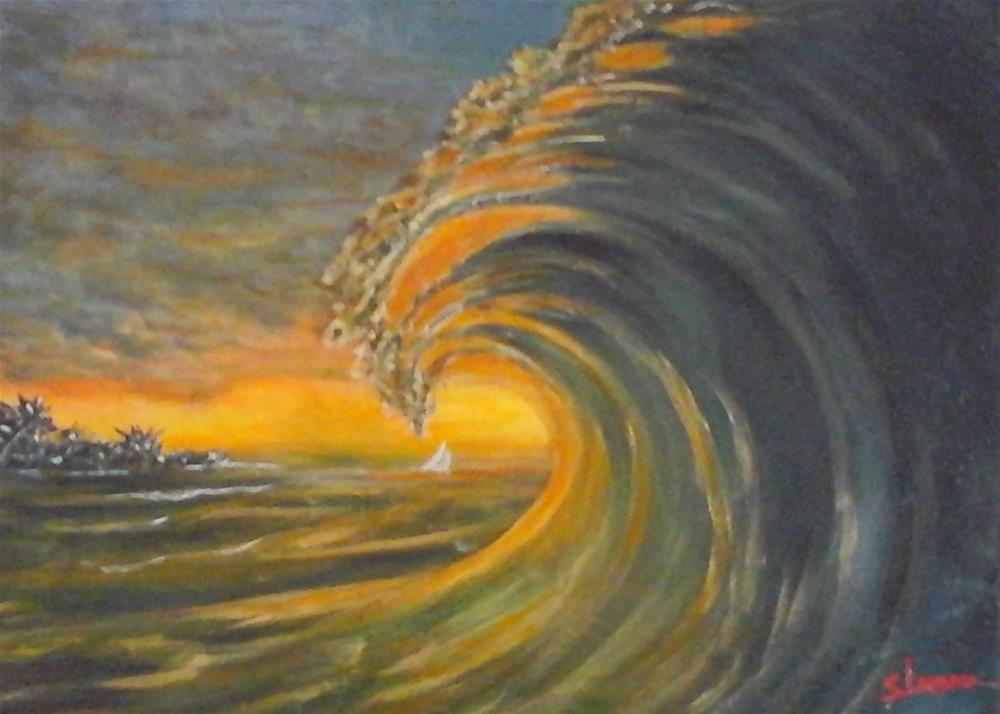 """""""Green Flash"""" original fine art by Sue Lorenz"""