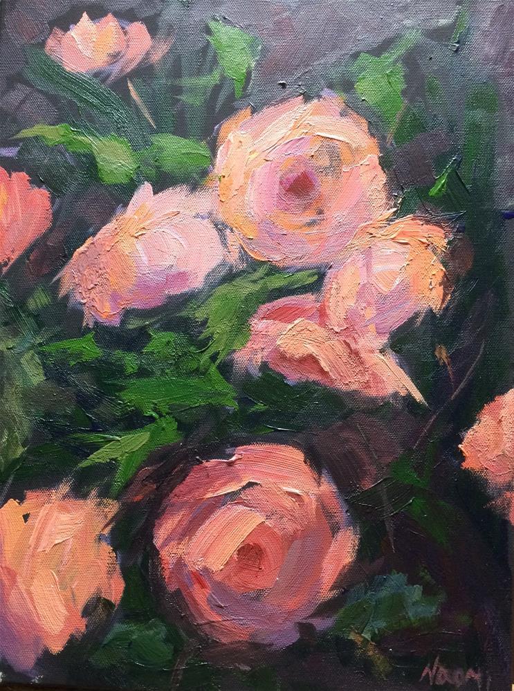 """""""Blooming Roses"""" original fine art by Naomi Bautista"""