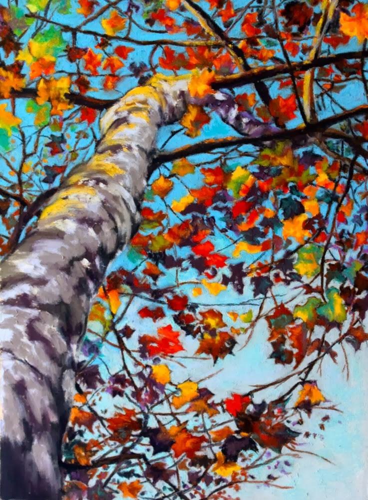 """Tree Music"" original fine art by Jill Bates"