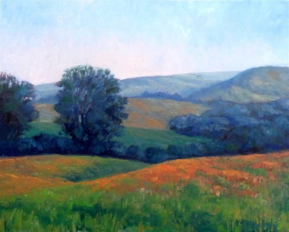 """Hills of Gold"" original fine art by Lisa Kyle"