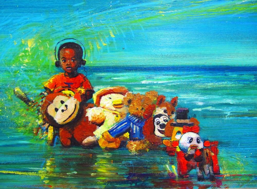 """KIDS, LIFE, ART and STUFF IV"" original fine art by Adebanji Alade"