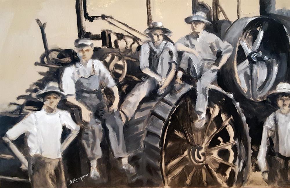 """Albert Teske Farm, Circa 1900"" original fine art by Shelley Koopmann"