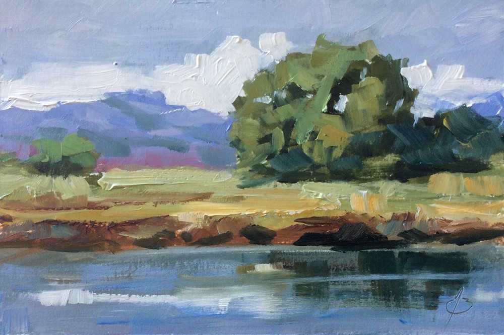 """WILDLIFE SANCTUARY"" original fine art by Tom Brown"