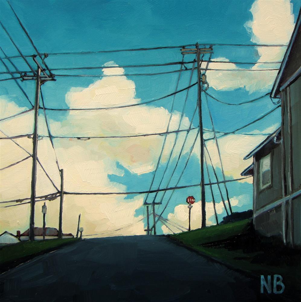 """Second Street"" original fine art by Nora Bergman"