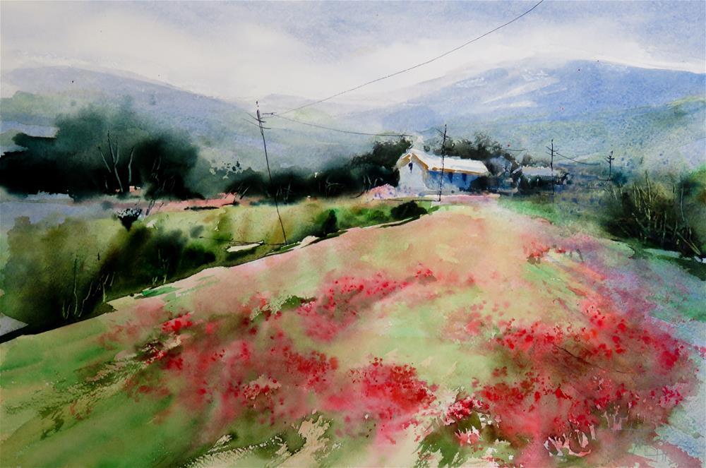 """poppy field"" original fine art by Christa Friedl"