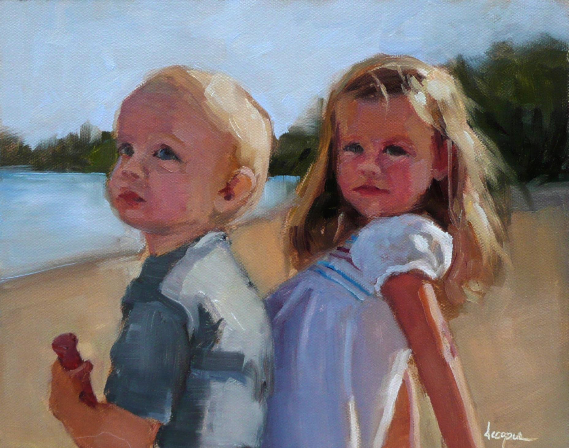 """Sun Kissed"" original fine art by Dana Cooper"