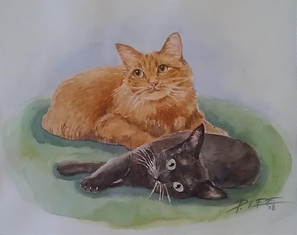 """Buddies"" original fine art by Peter Lee"