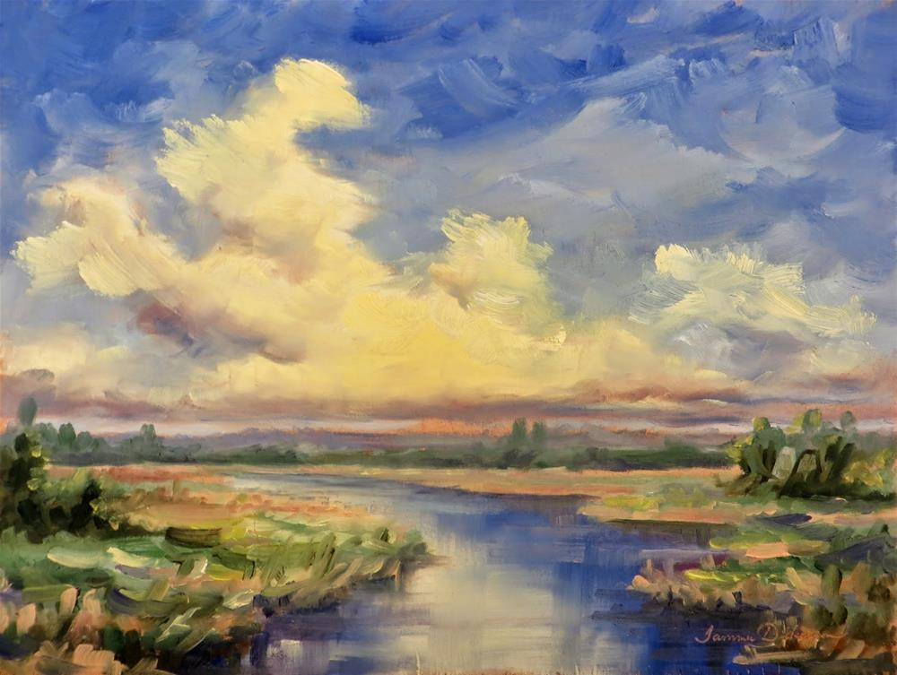"""""""Magic Over the Marsh"""" original fine art by Tammie Dickerson"""