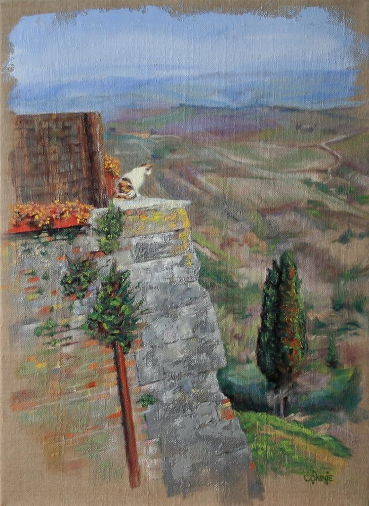 """""""Tuscany Day Watch"""" original fine art by Connie Nobbe"""