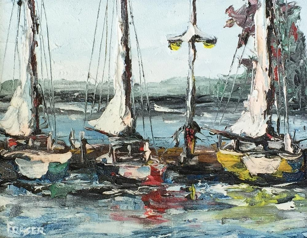 """Dockage"" original fine art by Ken Fraser"