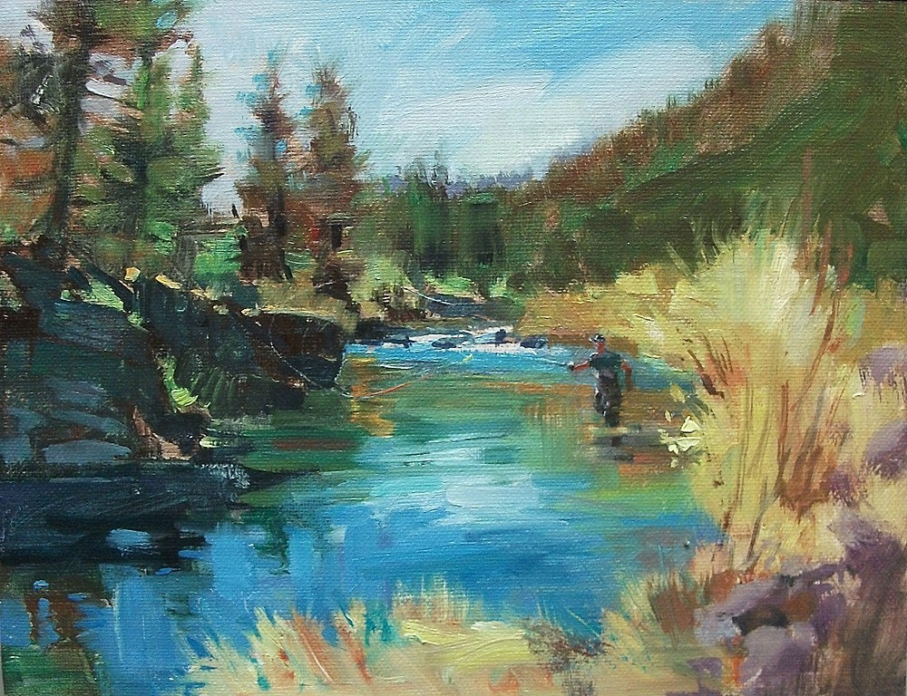 """""""A Day On The River"""" original fine art by Mary Maxam"""