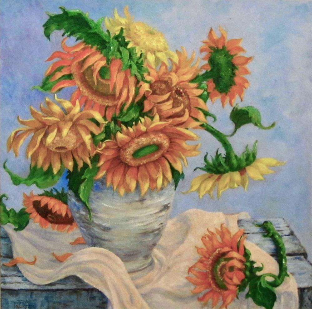 """Late Summer Sunflowers"" original fine art by Patricia Musgrave"