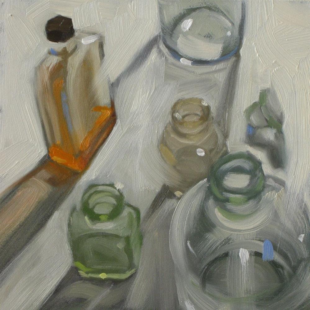 """Standing idly around  6x6  oil"" original fine art by Claudia Hammer"