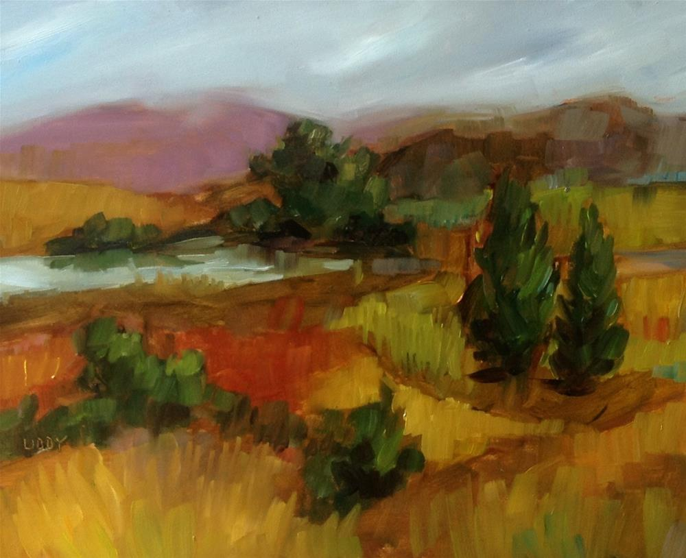 """""""Autumn Countryside"""" original fine art by Libby Anderson"""