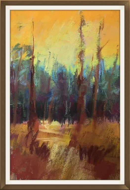 """""""Can't See The Forest"""" original fine art by Leora LaGraffe"""