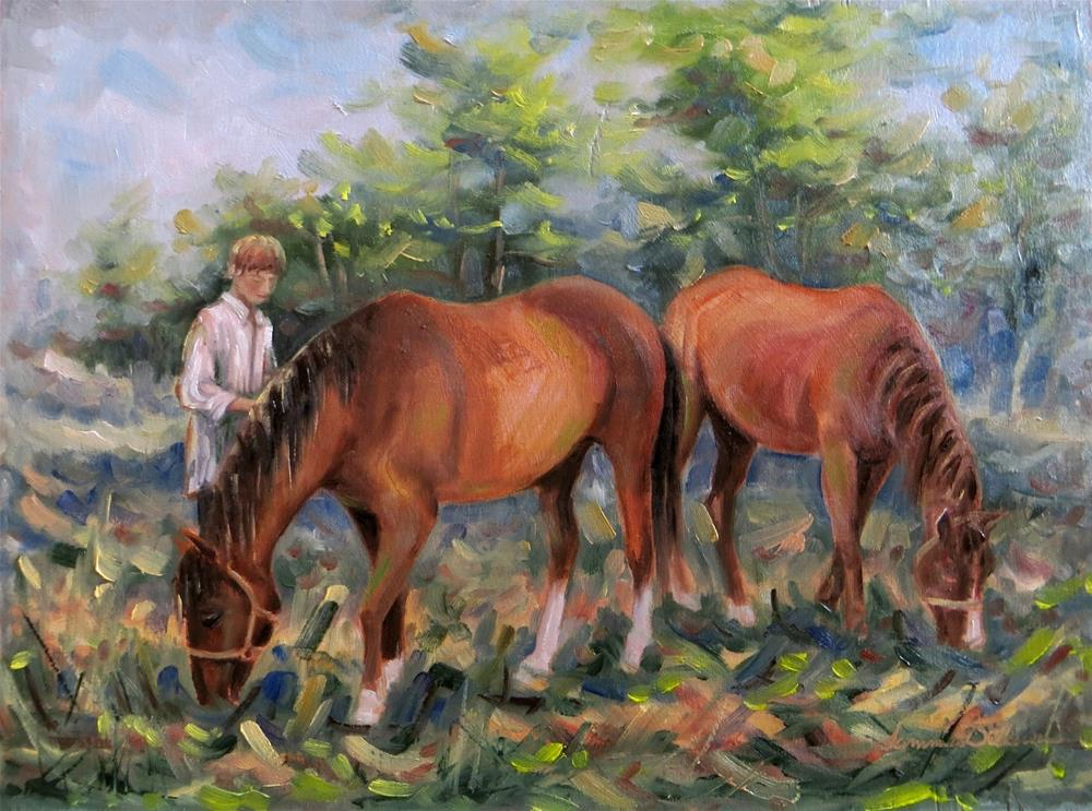 """""""Letting Out the Horses"""" original fine art by Tammie Dickerson"""