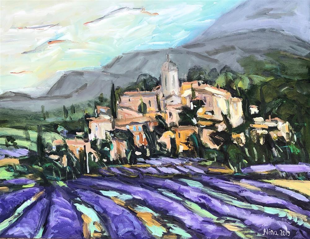 """""""Summer in Provence"""" original fine art by Alina Vidulescu"""