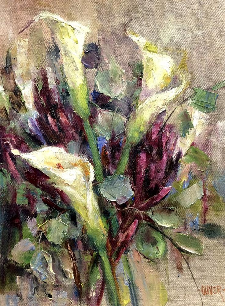 """Calla Lily Study"" original fine art by Julie Ford Oliver"
