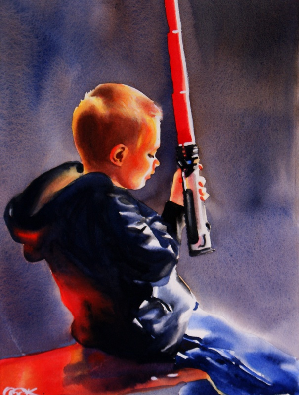 """""""May The Force Be With You"""" original fine art by Crystal Cook"""