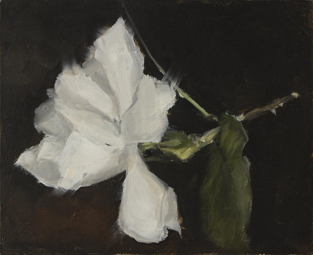 """First Gardenia"" original fine art by Clair Hartmann"