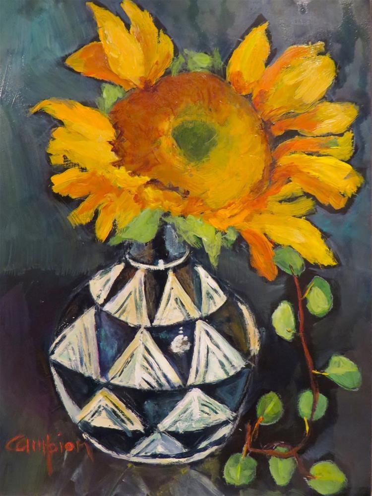 """686 Partly Sunny"" original fine art by Diane Campion"