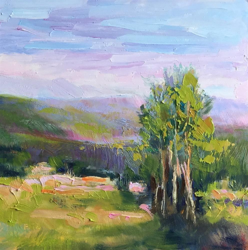 """Foothills 2"" original fine art by Charlotte Fitzgerald"