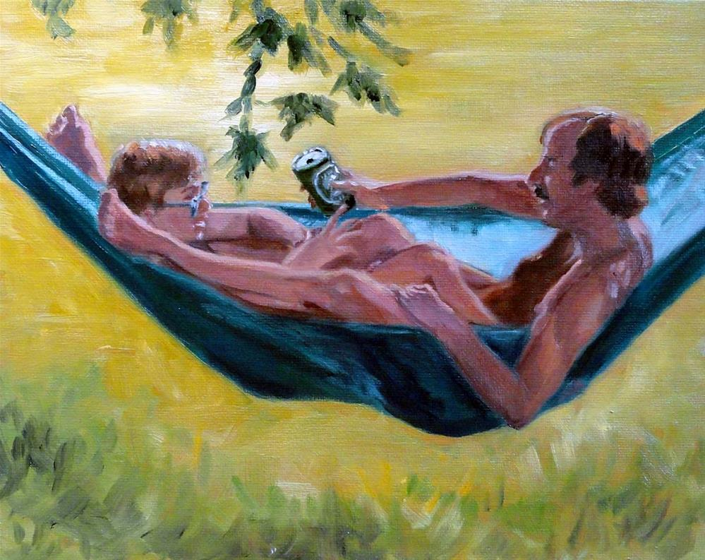 """Hangin' With dad"" original fine art by Cietha Wilson"