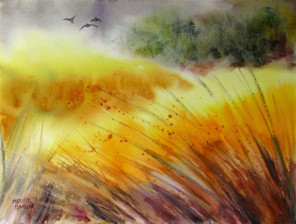 """Waving Yellows"" original fine art by Melissa Gannon"