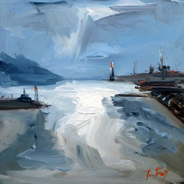 """""""Hafen"""" original fine art by Jurij Frey"""