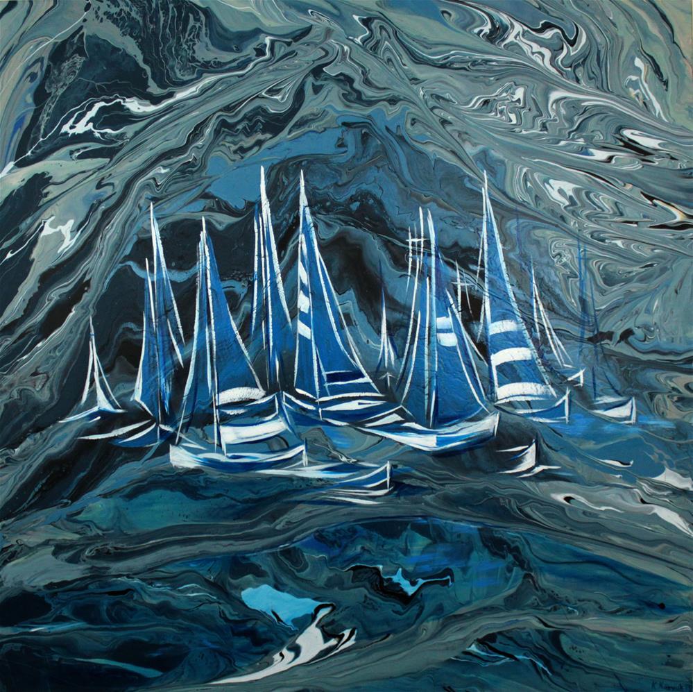 """Secret Harbor"" original fine art by Khrystyna Kozyuk"