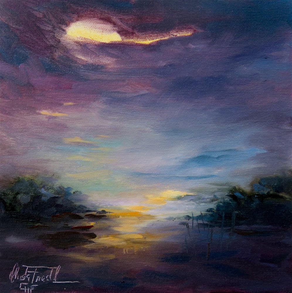 """""""What a night sky"""" original fine art by Christa Friedl"""