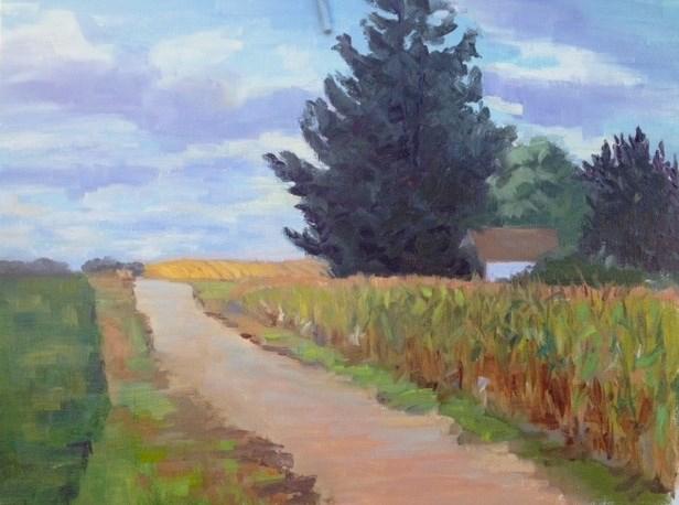 """""""Maiden Rock Road"""" original fine art by Judith Anderson"""
