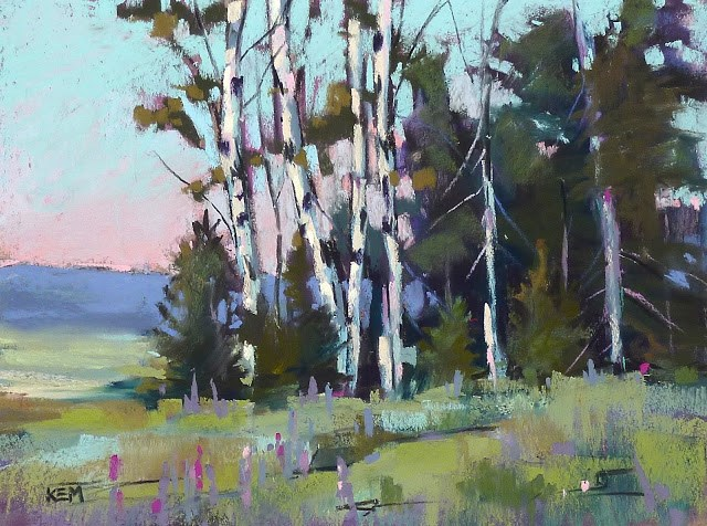 """Rocky Mountain Landscape with Aspen Trees"" original fine art by Karen Margulis"