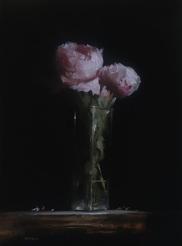 """""""Peonies in Glass"""" original fine art by Neil Carroll"""
