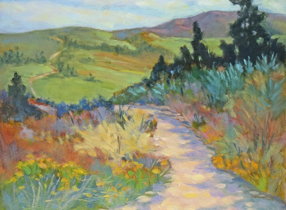 """Let's Take a Long Walk"" original fine art by Rhett Regina Owings"
