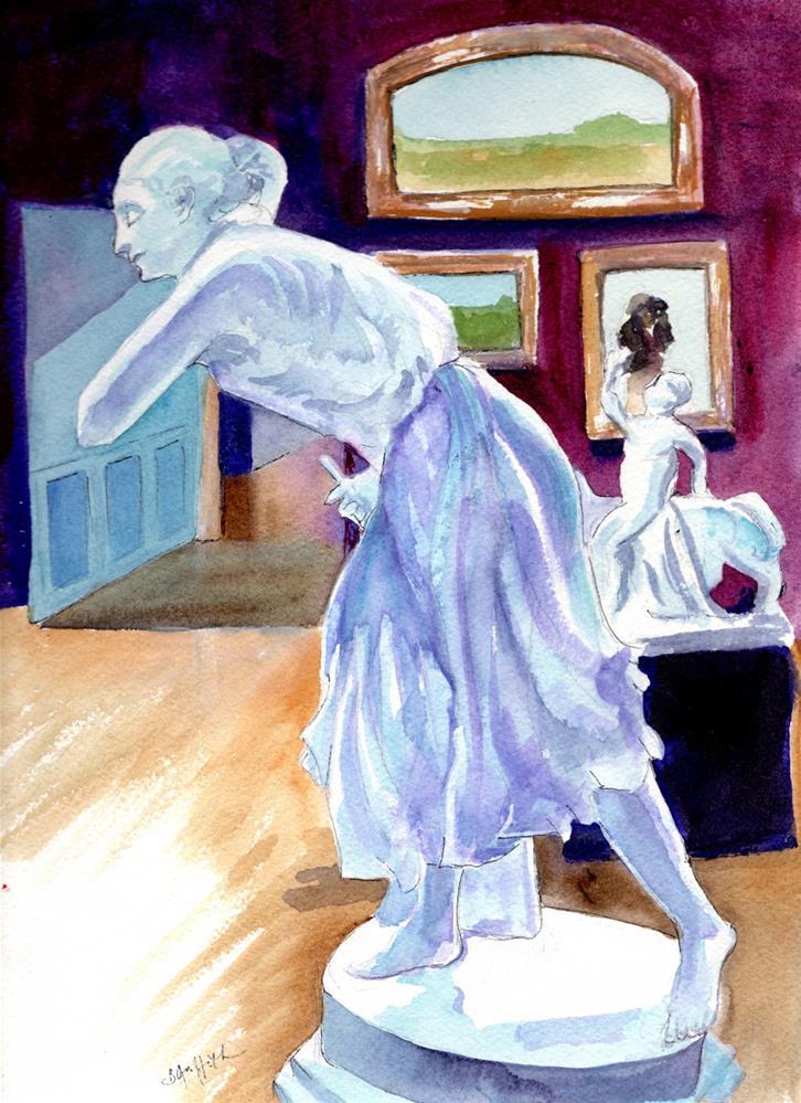 """Statue"" original fine art by Bunny Griffeth"