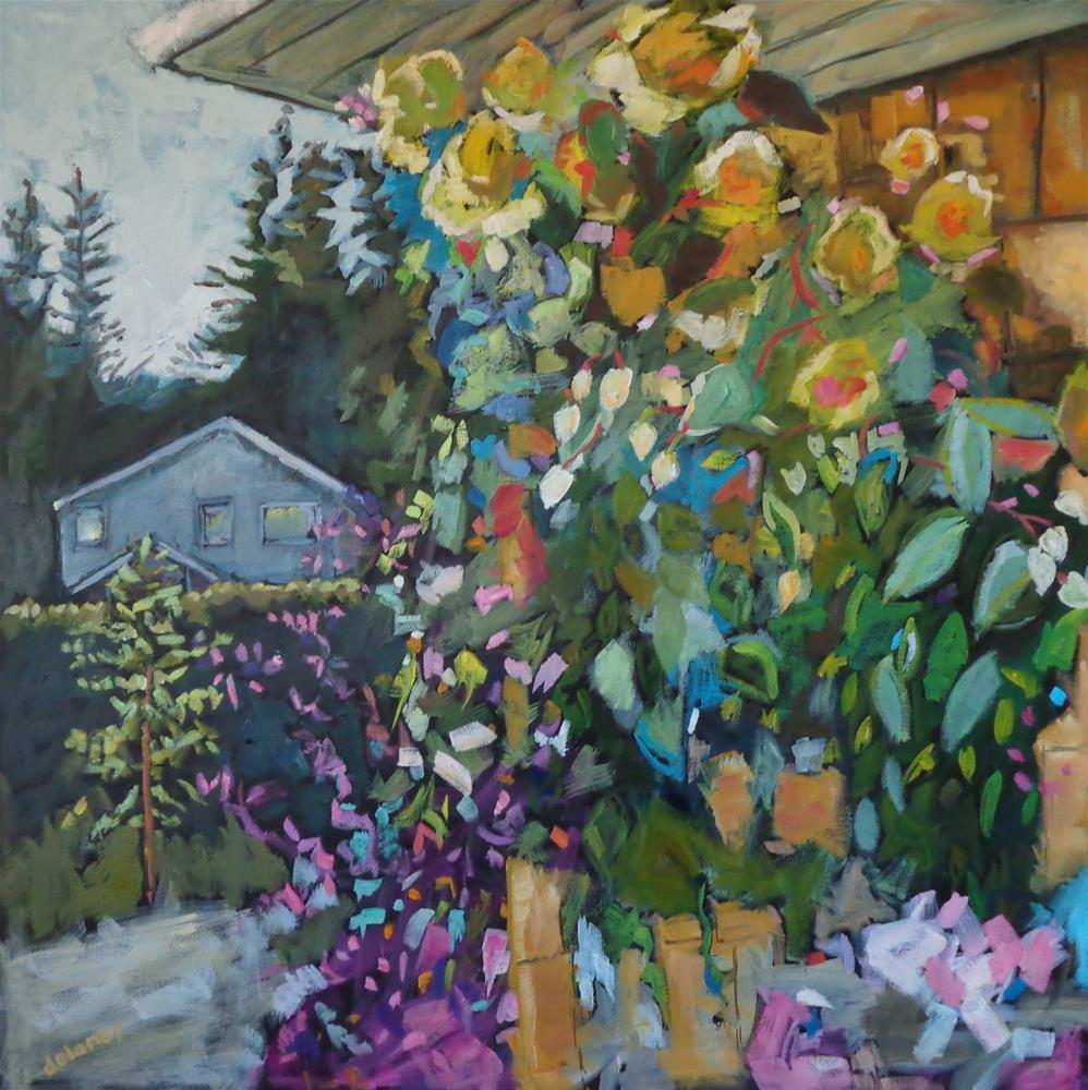 """""""THE NEIGHBOURS HOUSE"""" original fine art by Jean Delaney"""