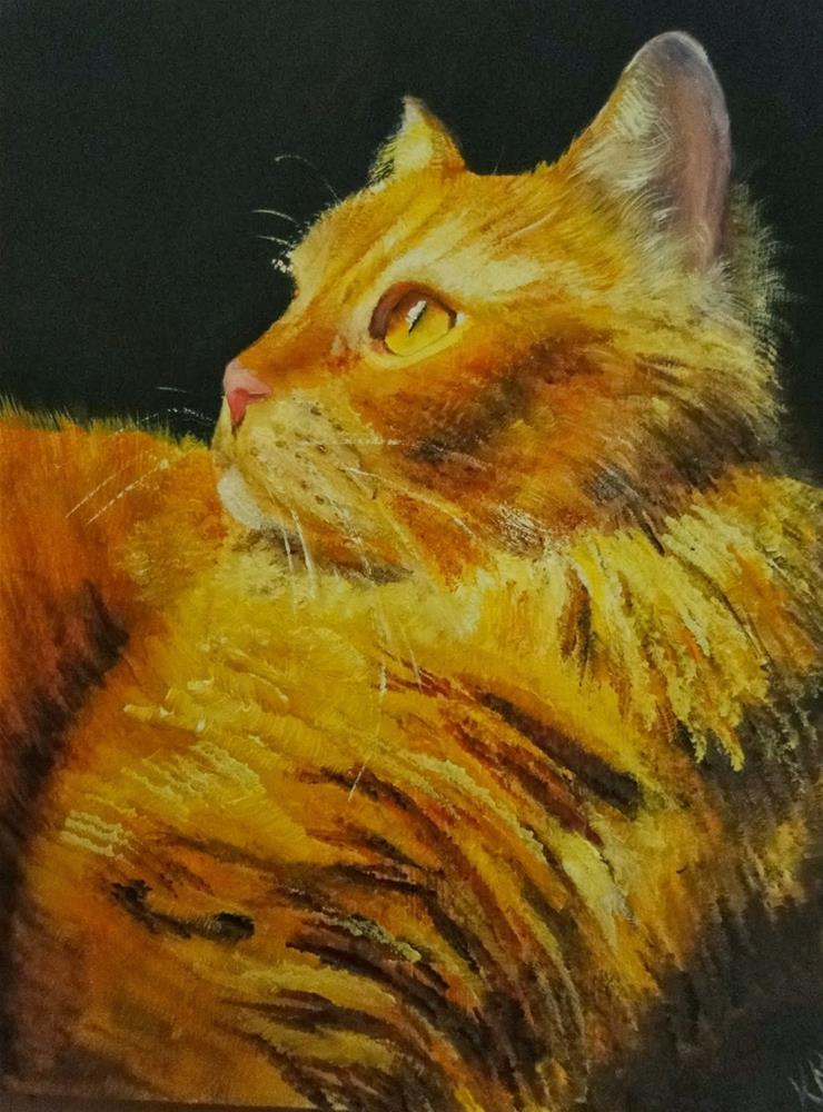 """Pumpkin Pie"" original fine art by Karen Robinson"