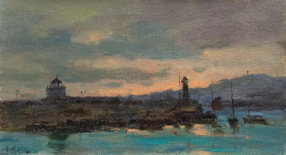 """""""Late Evening. St Ives"""" original fine art by John Shave"""