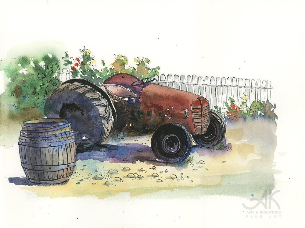 """OLD TRACTOR #0774"" original fine art by Amy Kirkpatrick"