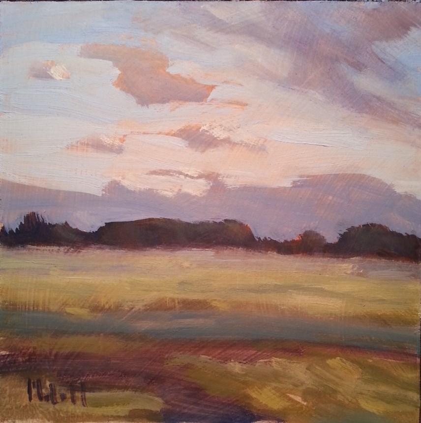 """""""A New Day Peaceful Landscape Original Impressionism"""" original fine art by Heidi Malott"""